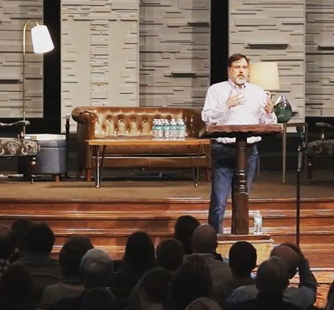 "Mark Pfuetze teaching at Christ Presbyterian in Nashville. Search ""Life Through a Screen: The Benefits, Risks, and Wounds of the Internet"" on YouTube for the forum."