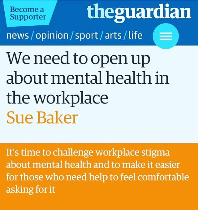 'We need to open up about mental health in the workplace.' Yes. Good article from The Guardian. Being dismissive of mental health hurts the worker, their family and the business. #mentalhealth #counseling #hereforyou #workplace #mentalhealthawareness #mentalhealthawarenessmonth