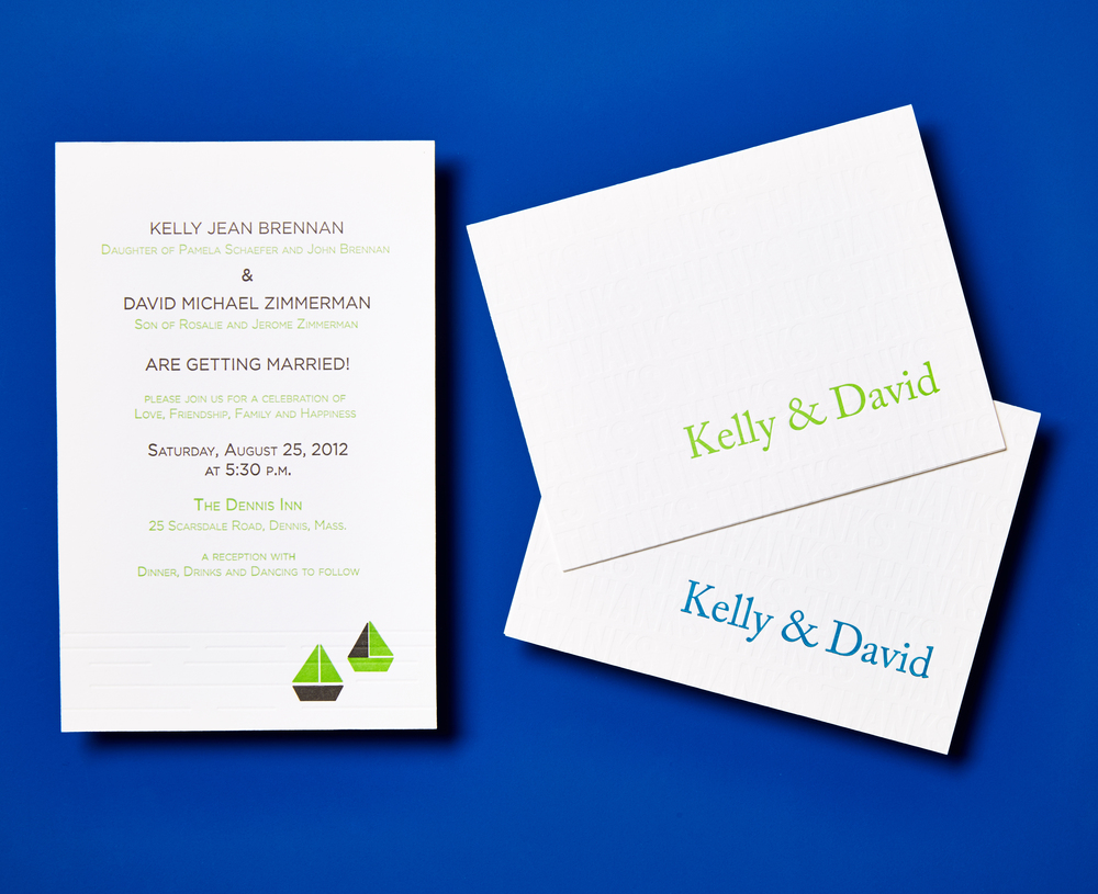Custom Design Letterpress Wedding Suite