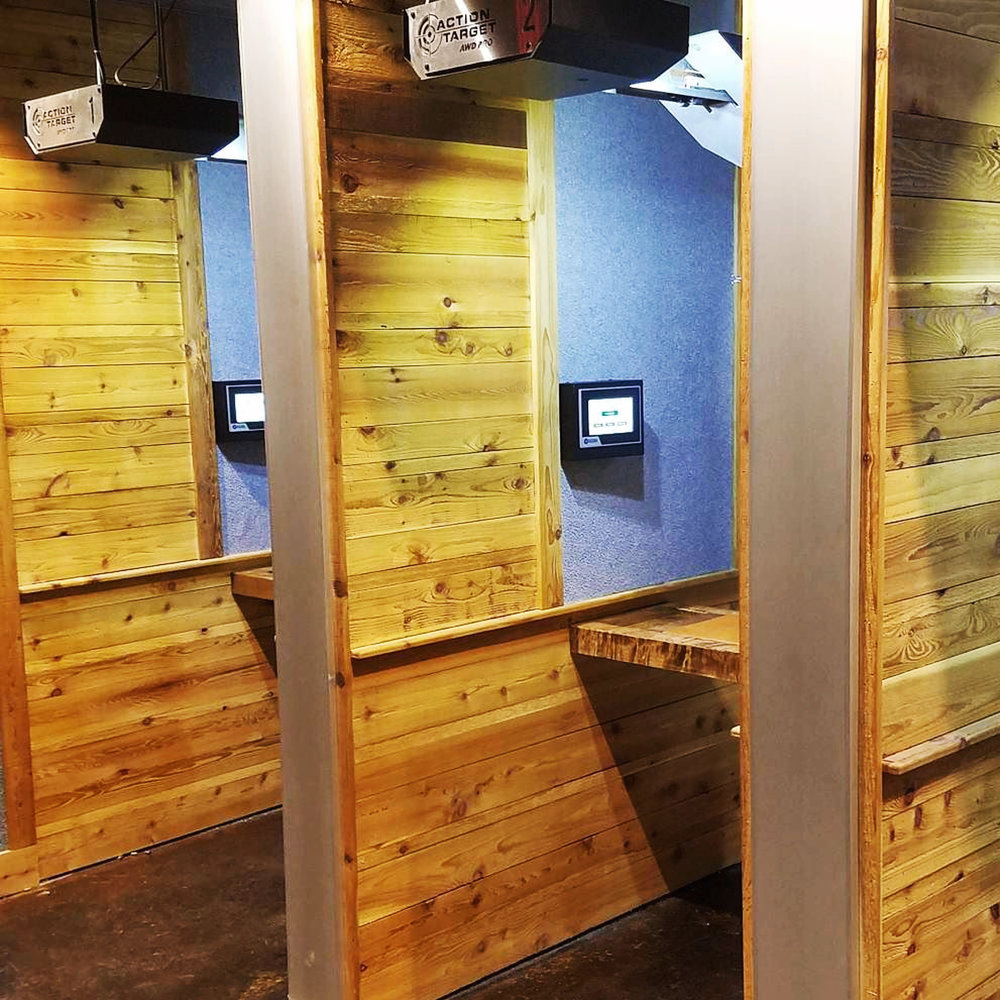 Freedom range, custom shooting booths with automated target retrieval system