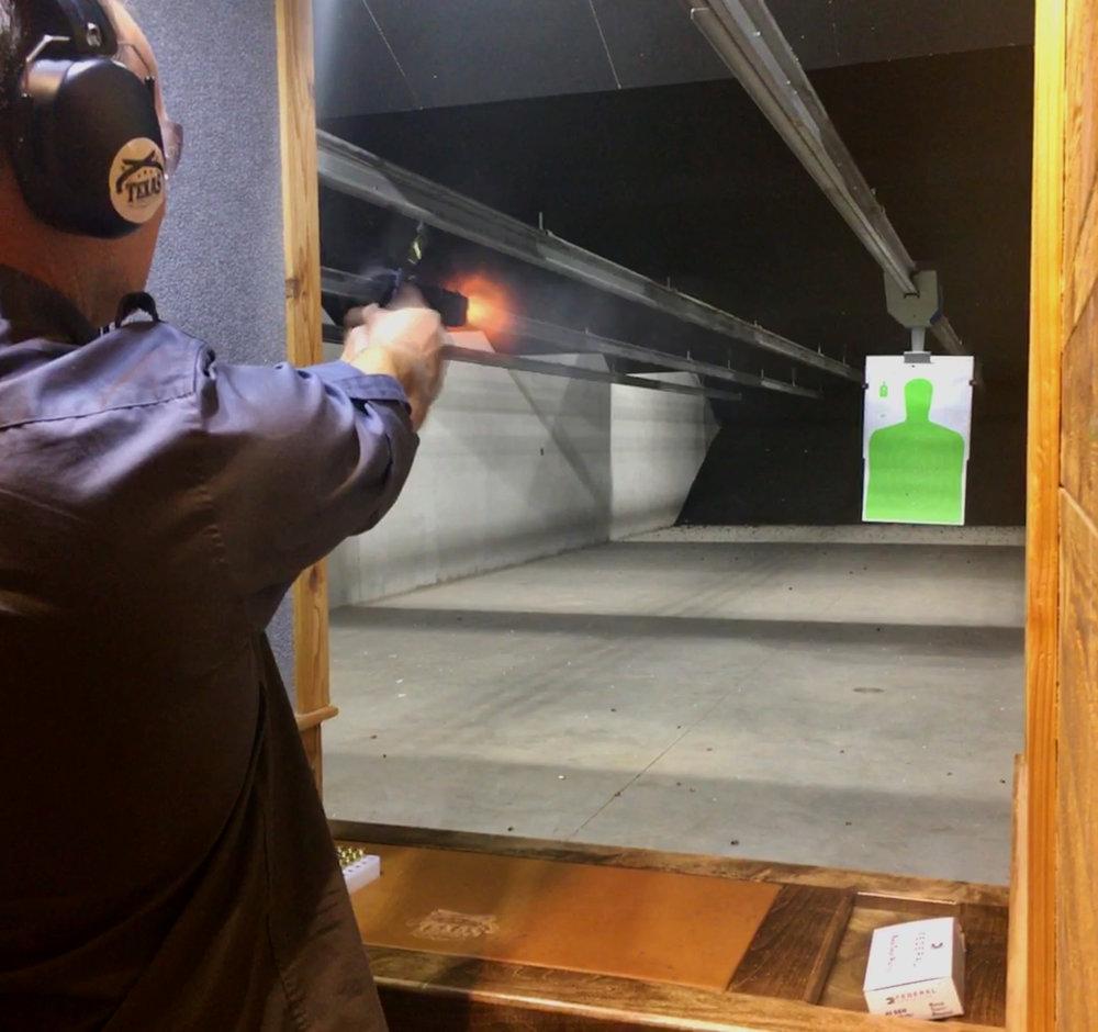 Example 50 yard rifle bay.
