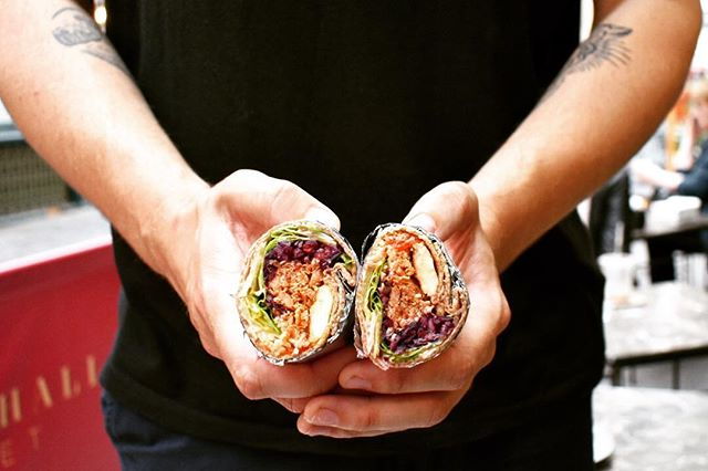 Girthy and well wrapped, the chicken and halloumi is best paired with dick jokes. Or a super green🍆. • • • #chicken #halloumi #wraps #protein #delicious #tasty #delicious #city #foodie #foodiegram #healthyfood #dickjokes #lunchtime #foodpics #instafood