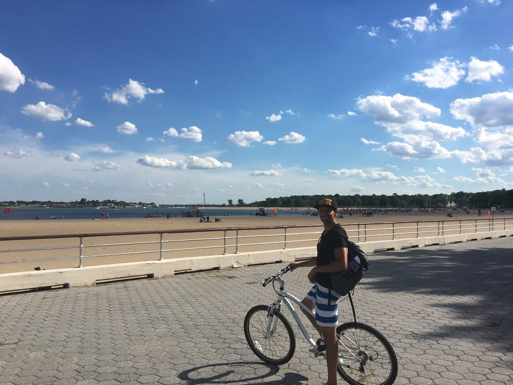 An 11 minute Bike ride to  Orchard Beach