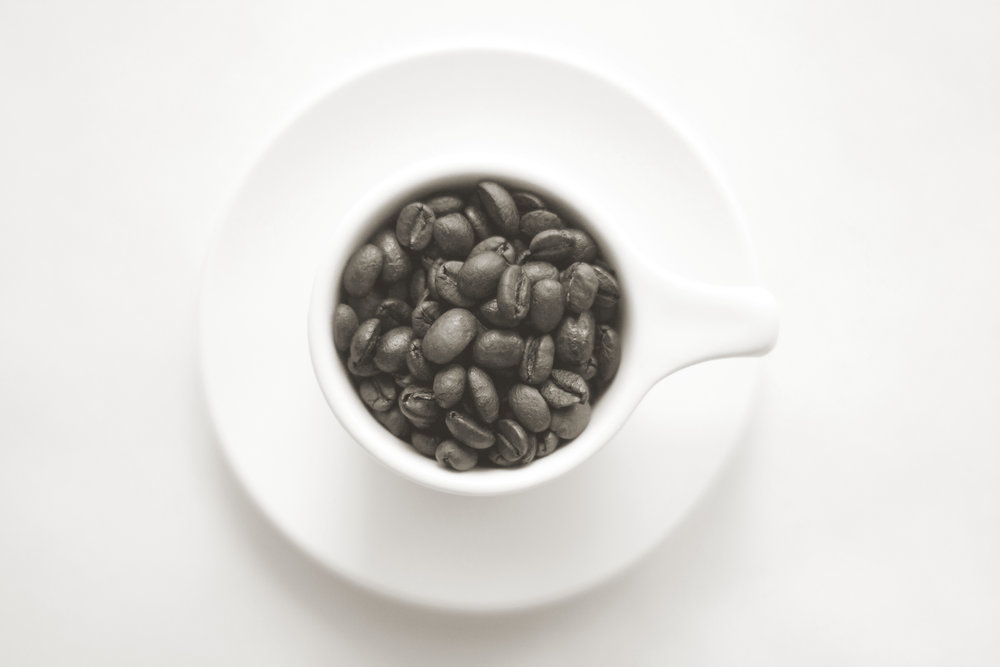 Espresso Cup with Beans - Sepia.jpg