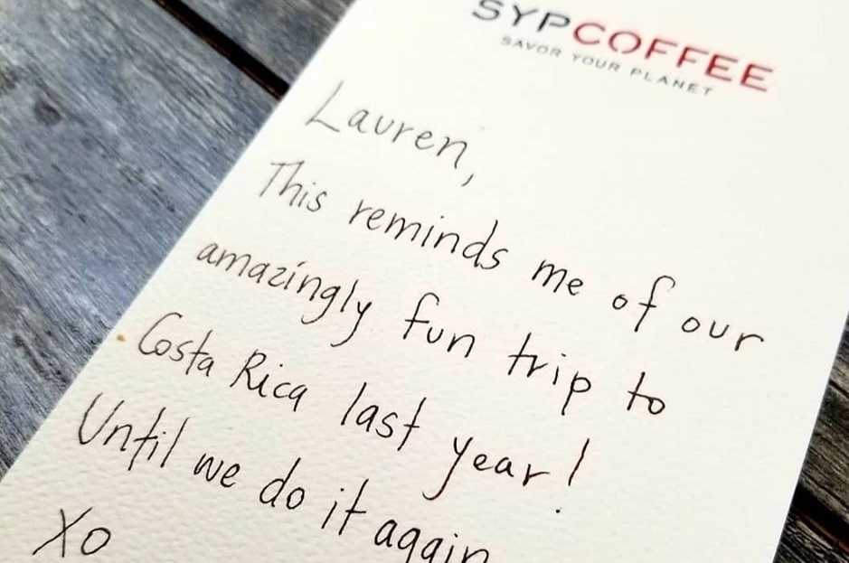 Handwritten Gift Coffee