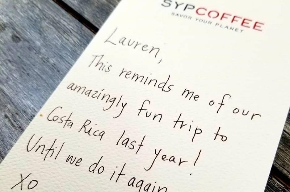 Handwritten Gift Coffee