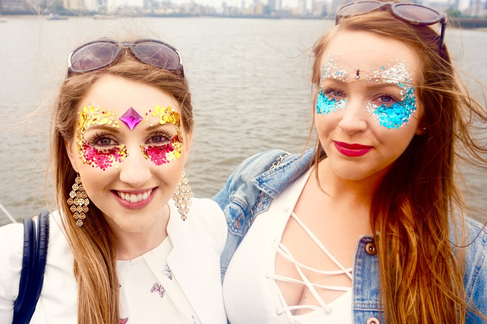 2 babylon babes showing off their glitter glam, xo
