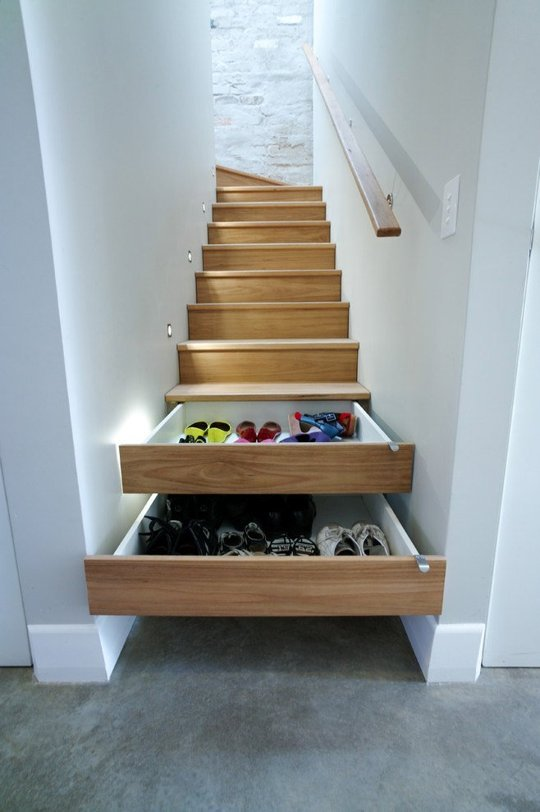 Clever Storage Ideas For Small Homes Part - 47: This May Be The Coolest Trick There Is- These Stairs-turned-drawers. Or  What If We Did A Gun Safe?