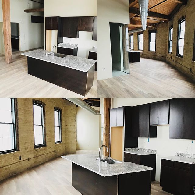"Phase II ""Docks"" combines the beauty of original 1800's cream city brick and heavy timber with clean modern design.  #Milwaukee #Loft #Architecture #Brick #Beams #Design  Scheduled completion: Spring 2018  RiverPlaceLofts.com inquiries@riverplacelofts.com"