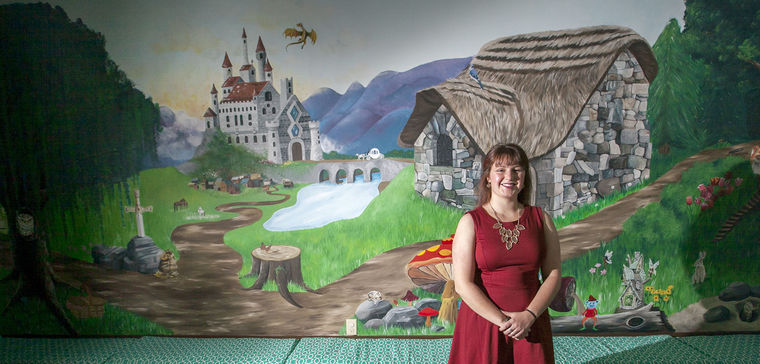 A Creighton University student donated her artistic abilities and hand-painted our Children's Library, a project that took more than 200 hours to complete. This space is utilized by children ages 3-7 during the  BUDDY  Program.