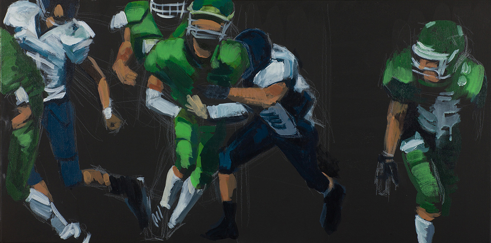 'Football 5 (black&green)'