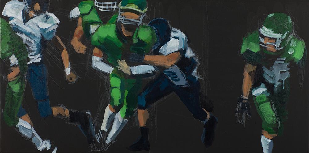 'Football 5 (black&green)'