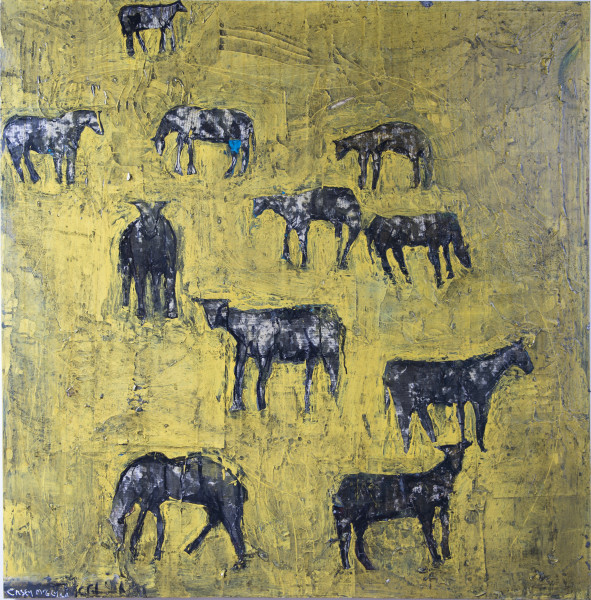 Yellow Herd by Casey McGlynn