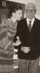 Ernestine Tahedl and her father, Professor Heinrich Tahedl, 1982