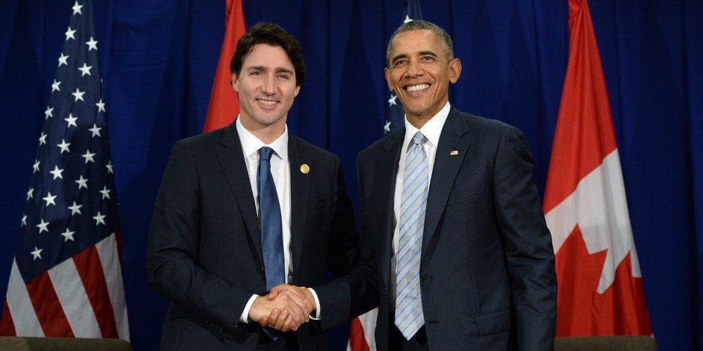 Canadian Prime Minister, Justin Trudeau and US President, Barack Obama