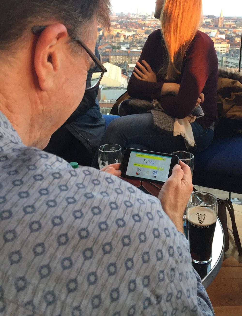 Rober Cooper Receiving Alert from Embue Super App