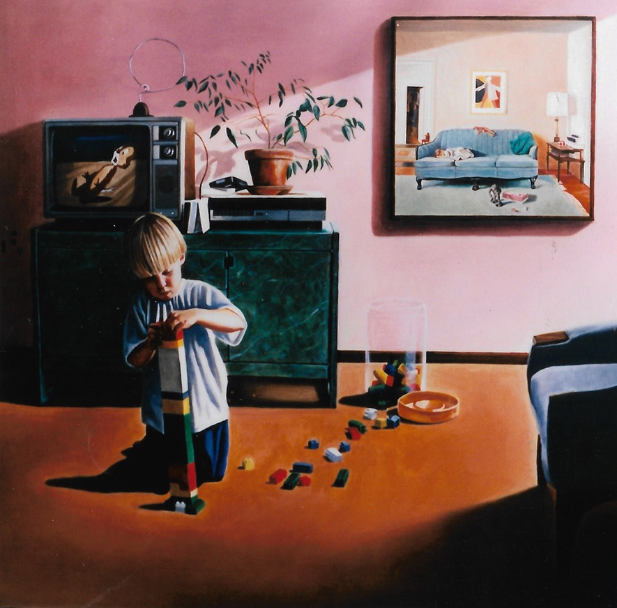 "Every Morning,  20 x 20"", Oil on Panel, 1995, Collection of the City of Calgary."