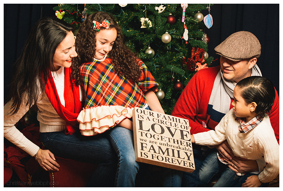 The Delacruz family holiday portrait