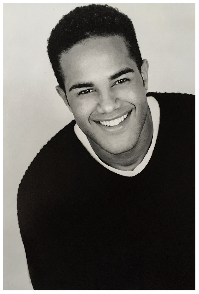 My old headshot in black & white portrait orientation.
