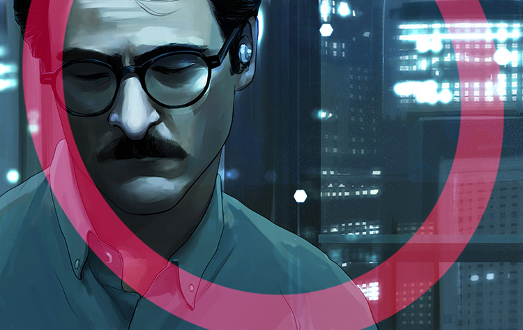 "Her - Illustration for the cinema review of Spike Jonze's ""Her."""