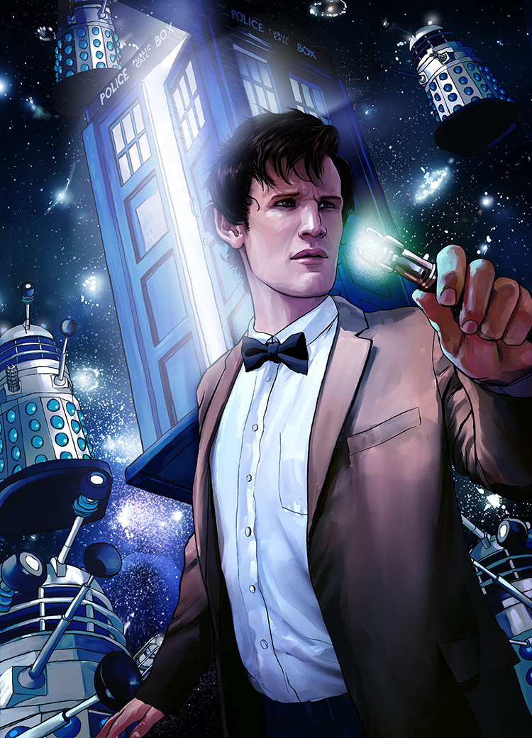 Doctor Who - Illustration for an article on Doctor Who for The New Yorker Sci-Fi issue.