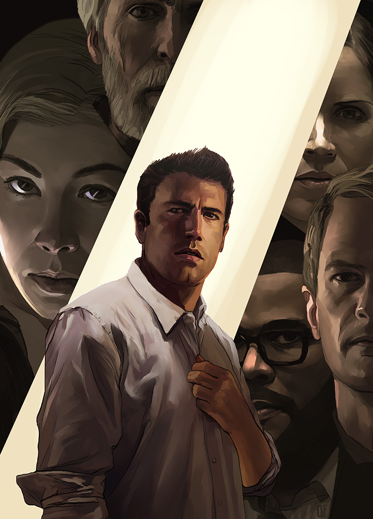 "Gone Girl - Illustration for the cinema review of David Fincher's ""Gone Girl."""