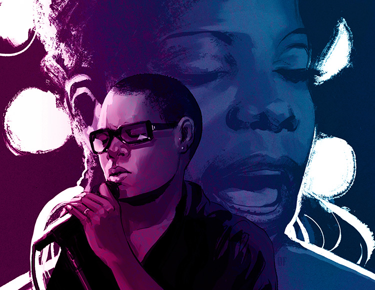 Meshell Ndegeocello - Illustration of Meshell Ndegeocello's Nina Simone tribute concert.