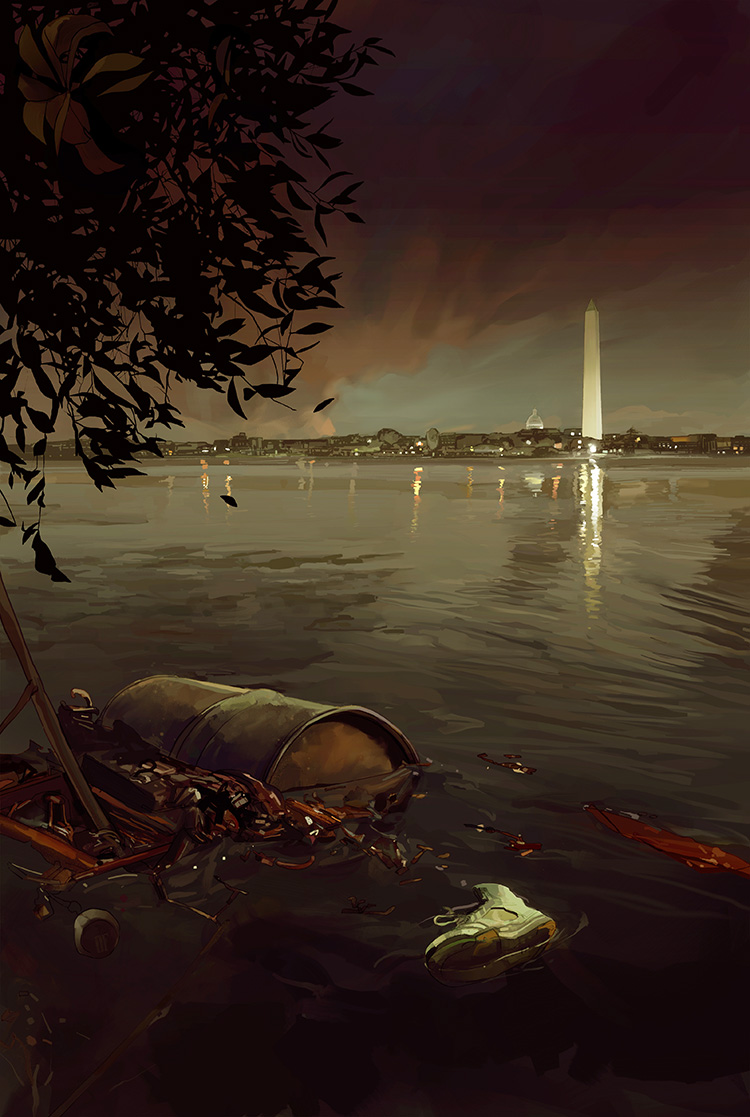 Murder, D.C.   - Cover illustration for the novel by Neely Tucker.