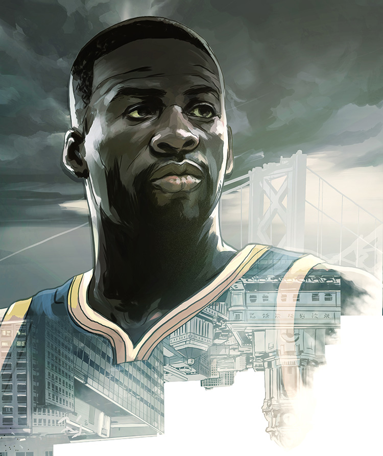 The Trouble with Draymond Green - Feature illustration for ESPN Magazine.