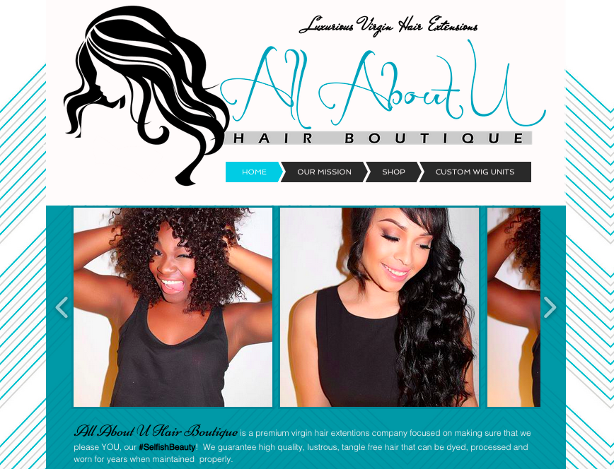 All About U Hair Boutique Website