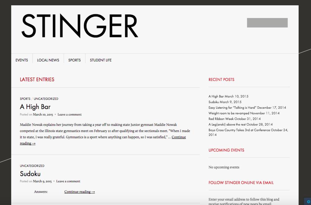Hinsdale South Stinger Website