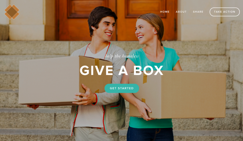 Give A Box Website