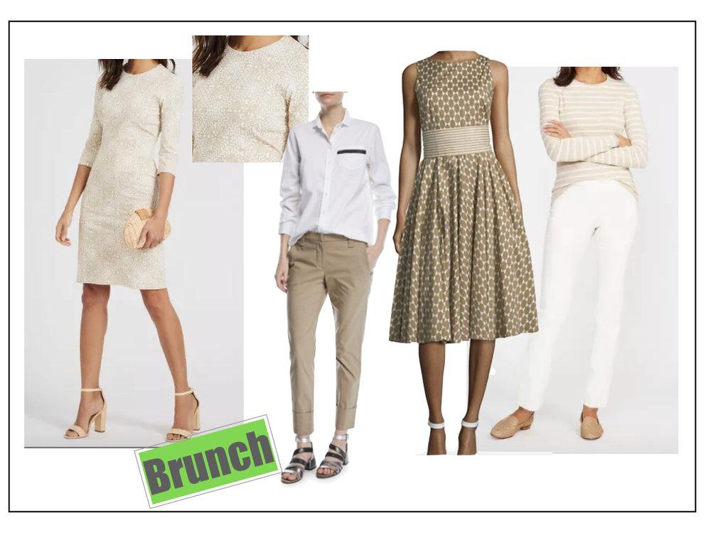 Wear  neutrals  to brunch.