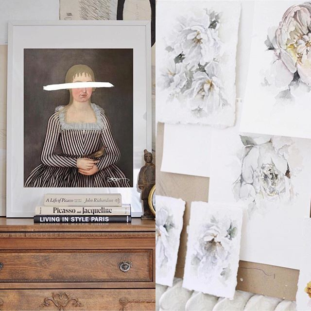 Two of my favourite art launches from recent weeks: beautiful watercolour peonies from @jessblazejewski and the newest print from @jyoungdesignhouse. Love following the creations of both Josh & Jess - two inspiring feeds that are a welcome addition to my daily scroll. #art #inspiredbythis #favouritethings