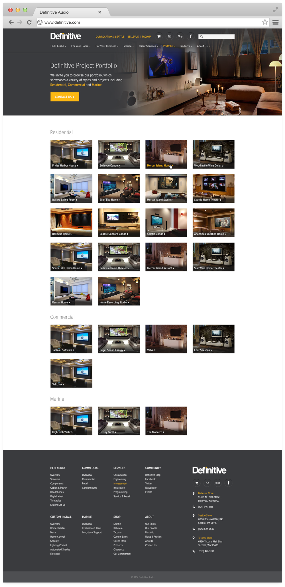Project portfolio gallery
