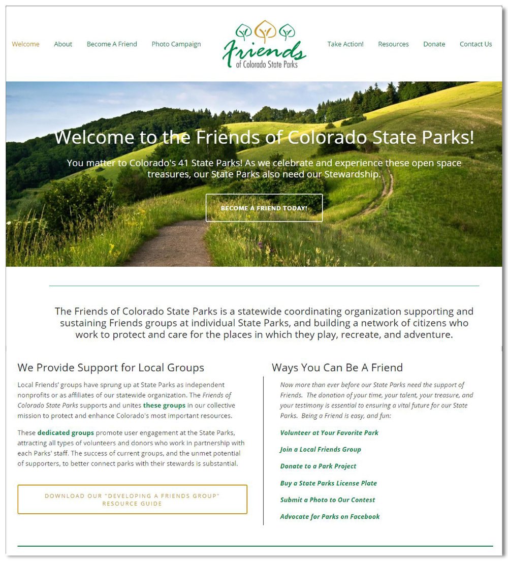 Friends of Colorado State Parks - The Friends of Colorado State Parks is a statewide coordinating organization supporting and sustaining Friends groups at individual State Parks, and building a network of citizens who work to protect and care for the places in which they play, recreate, and adventure.