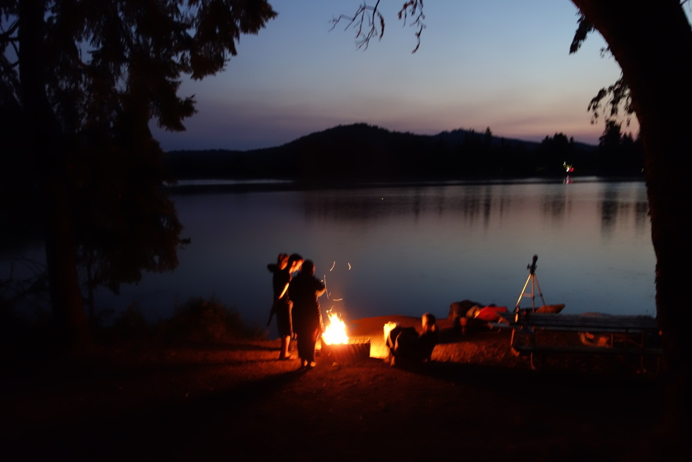 Pre-dawn fire, Lake Selmac, Oregon