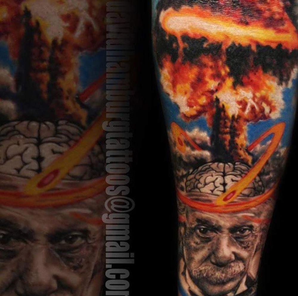 David Hamburg tattoo Elizabeth street tattoo realism albert einstein.JPG