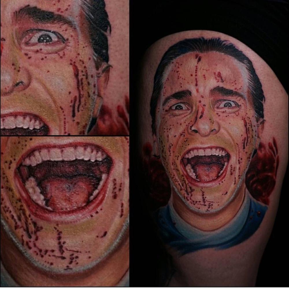 David Hamburg tattoo Elizabeth street tattoo realism american psycho christin bail.JPG
