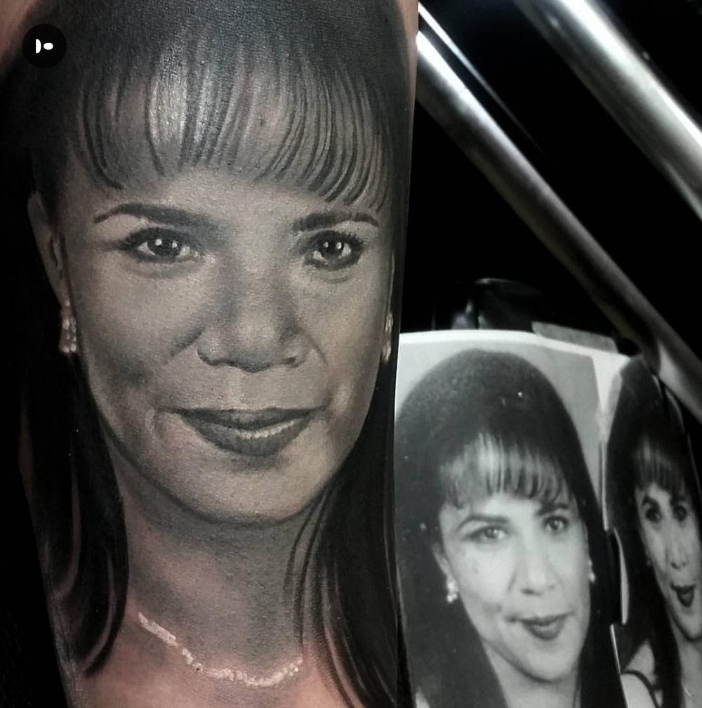 David Hamburg tattoo Elizabeth street tattoo realism wife.JPG