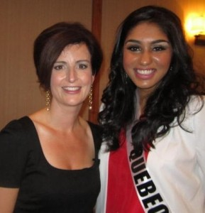 Best Toronto dentist, 2012 Miss Teen Quebec, Megha Sandhu with Dr Natalie Archer DDS,