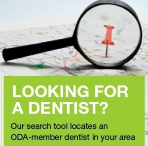 ODA website, dentist finder tool,