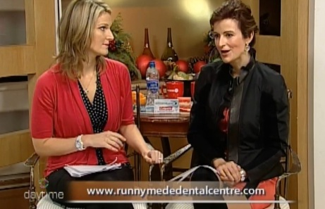 Rogers Daytime TV host Melanie Case and Dr Natalie Archer on Barrie cable TV