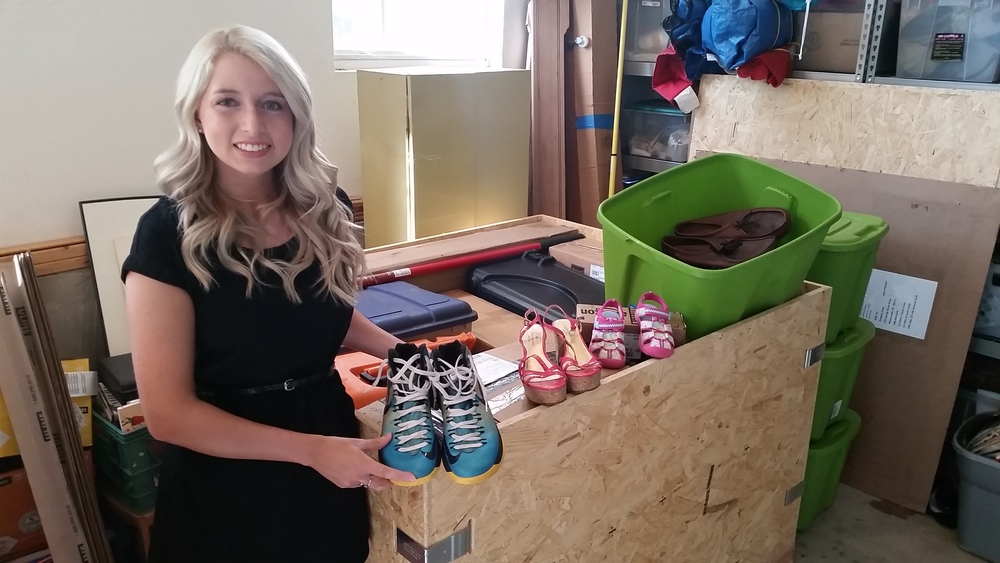 Rachel Sanford organized the shoe drive at Liberty Prep!