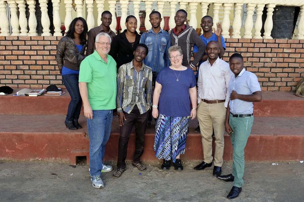 Top Row (L to R): Ezi, Chikuta, Chembo, John, Timothy & Joseph; Bottom Row (L to R): Doug, Allan, Abby, Paul & Limbi