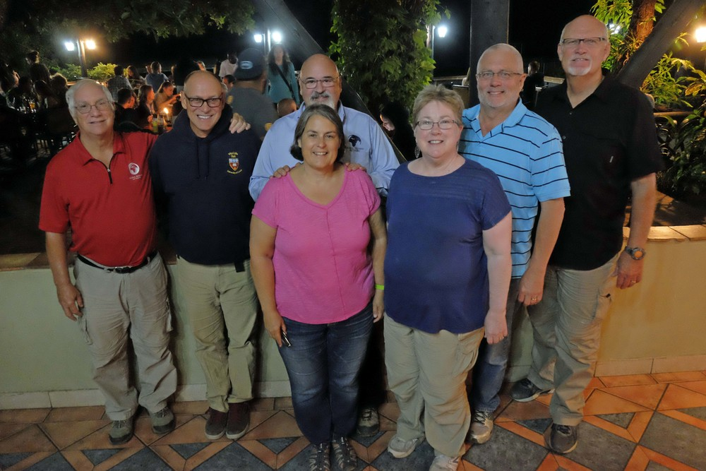 GTN Colleagues in Livingstone, Zambia (L to R): Gary, Doug, Carl & Patsy, Abby & Doug and Joel