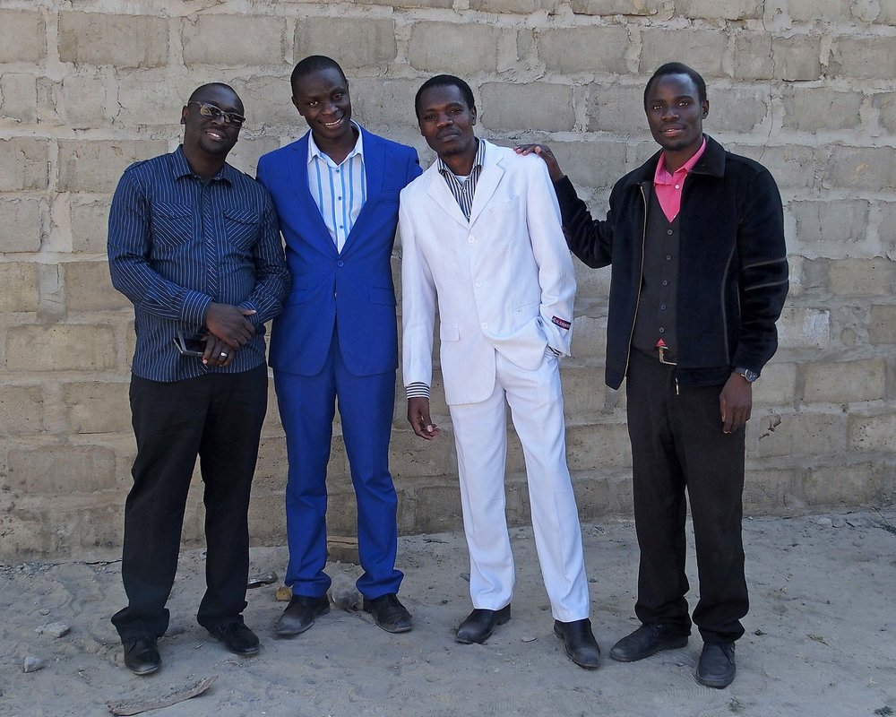Four young and gifted Zambian leaders, Percy, Yuyi, Moses & Bosco