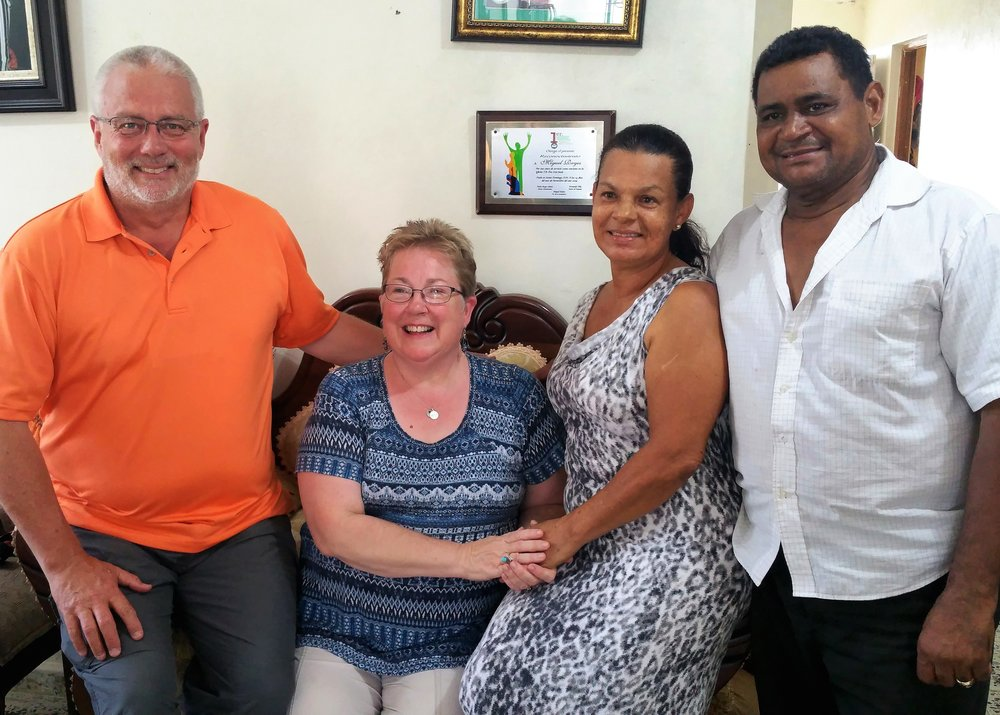 Abby and I have been getting to know Pastor Miguel and his wife, Persida, a delightful couple!