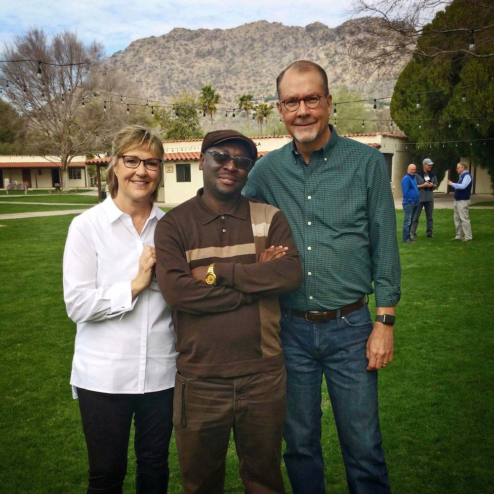 Percy enjoyed time in Phoenix with GTN President Paul Madson and his wife, Lisa.
