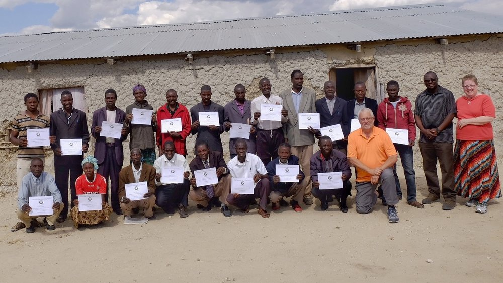 Students from this year's Nangweshi, Zambia training display their completion certificates!